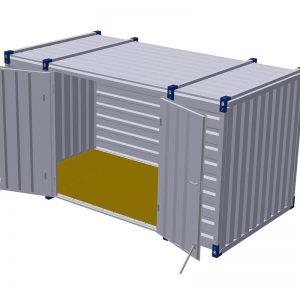 Materiaalcontainer dubbele deuren lange zijde – 4mtr