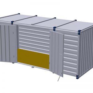 Materiaalcontainer dubbele deuren lange zijde – 5mtr