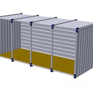Materiaalcontainer open lange zijde – 5mtr