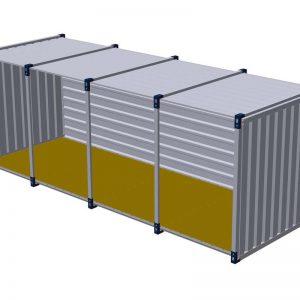 Materiaalcontainer open lange zijde – 6mtr