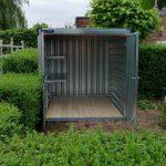 CONTAINER 2,25 mtr | Dubbele deuren korte zijde